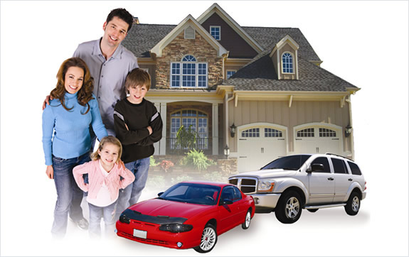 Happy family with Texas insurance coverage